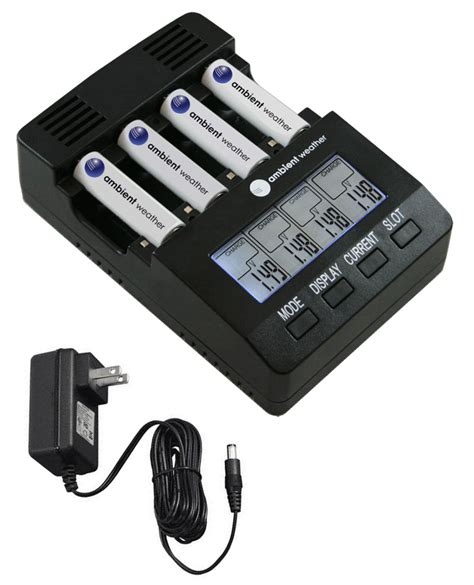 rechargeable batteries and chargers ambient weather bc 2000 intelligent battery