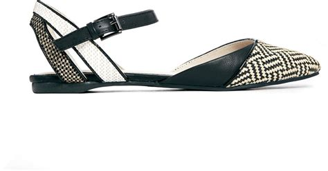 flat pointed shoes with ankle aldo black flat pointed ankle shoes in black lyst