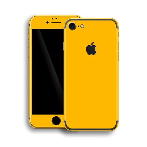 iphone 7 glossy golden yellow skin wrap decal easyskinz