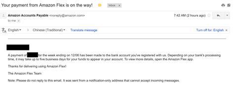 How quickly do I get paid through Amazon Flex?   Amazon