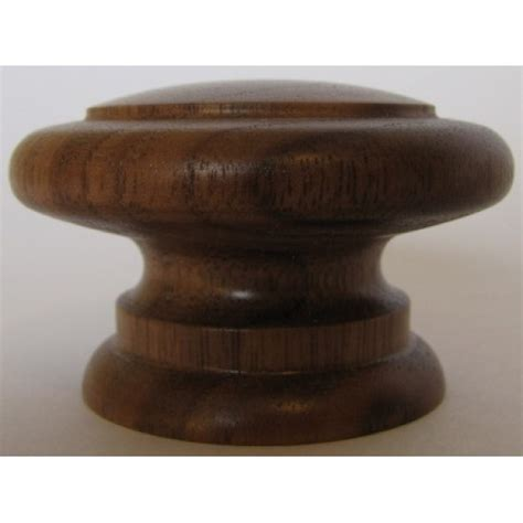 Wooden Knobs by Knob Style E 55mm Walnut Lacquered Wooden Knob