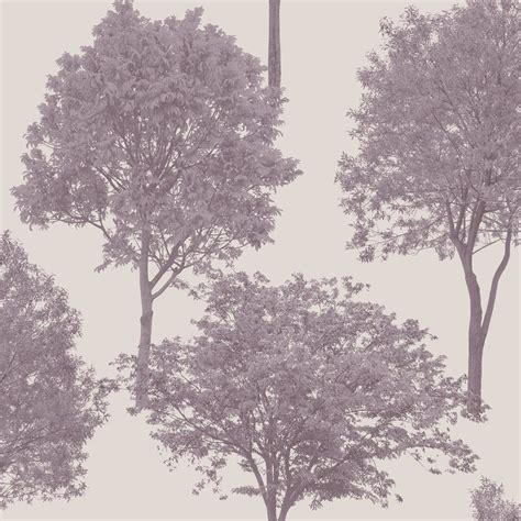 grey wallpaper with trees fine decor woodland trees wallpaper plum grey fd40667
