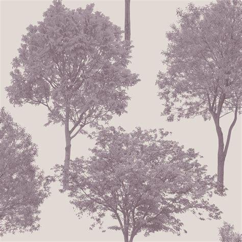 wallpaper grey trees fine decor woodland trees wallpaper plum grey fd40667