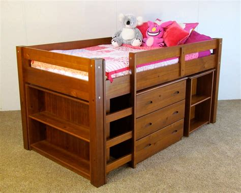 Solid Wood Bunk Bed Low Loft Bunk Bed Solid Wood All In One Features Free Shipping