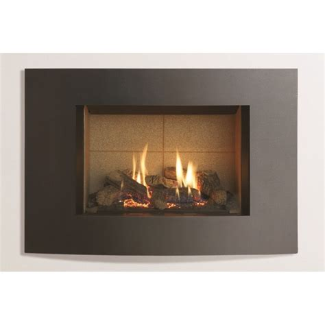 Gas Fireplace Small by Small Azure Curved Gas