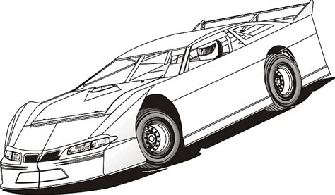 Free Dirt Late Models Coloring Pages Late Model Free Coloring Pages