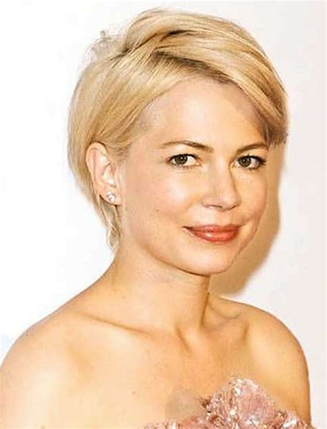 hairstyles short on an angle towards face and back short haircuts for round face thin hair ideas for 2018