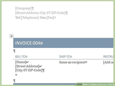 how to make invoices in word 12 steps with pictures