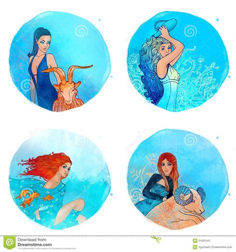 aries acuario zodiaco capricornio acuario piscis aries stock de