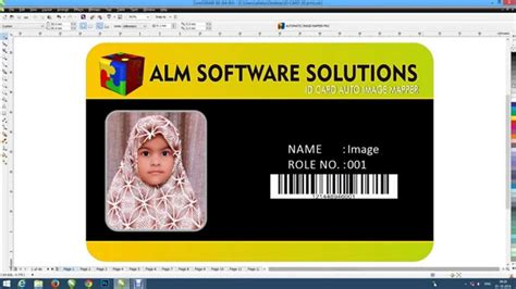 How To Design Identity Card Using Coreldraw | how to make id card insert photo easy and fast corel draw