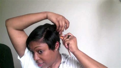 how to trim ladies short hair short hair cutting tutorial how i cut my short black hair