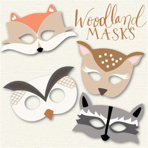 printable nocturnal animal masks woodland animal masks my blog posts pinterest