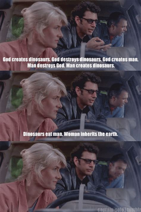 god creates dinosaurs ian malcolm books ellie sattler