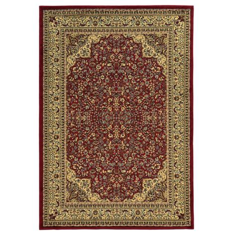 linon home decor rugs linon home decor elegance isphahan red 8 ft x 10 ft area