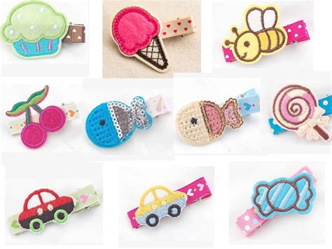 Hair Clip Anak Perempuan Monic Purple 10 20pcs mini felt hair hair bow fancy work cupcake car bees butterfly