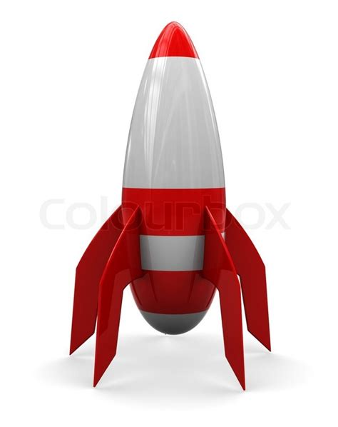 How To Make A 3d Rocket Out Of Paper - abstract 3d illustration of rocket white