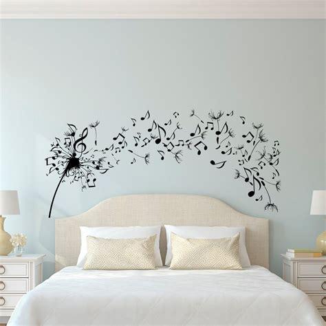 musica da letto dandelion wall decal da letto musica nota parete