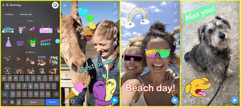 Snapchat Moving Stickers