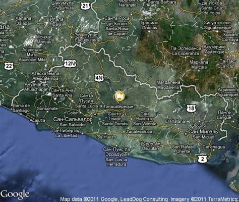 el salvador satellite map el salvador popular tourist places satellite map images