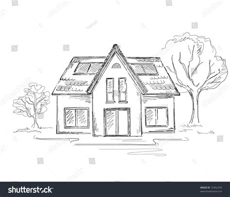 How To Draw Building Building Drawing Stock Vector Illustration 72452476
