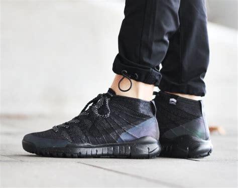 Nike Flyknit Chukka Black nike flyknit trainer chukka fsb black the sole supplier