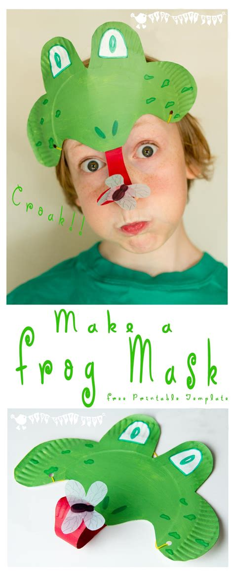 How To Make A Paper Frog Tongue - frog mask animal mask