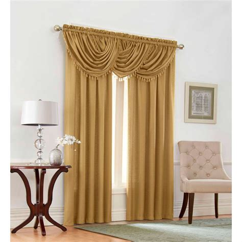 hanging curtains with valances how to hang curtains with waterfall valance curtain
