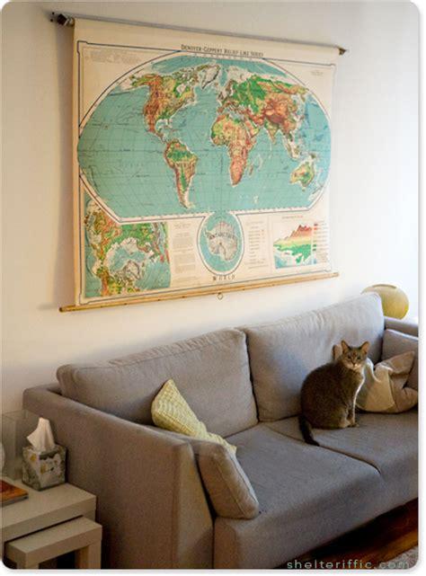my ebay find vintage world map