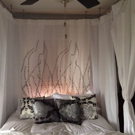 homemade canopy bed 15 best images about curtains on pinterest drapery