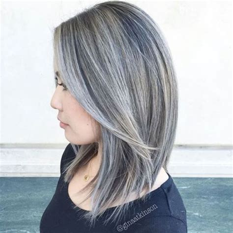 putting silver on brown hair best 25 gray highlights ideas on pinterest silver