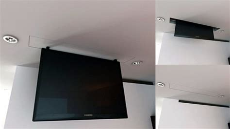 staffe tv da soffitto tv moving mlv sollevatore tv motorizzato da soffitto per