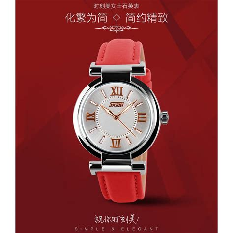 Komponen Jam Tangan Analog skmei jam tangan analog wanita 9075cl white jakartanotebook