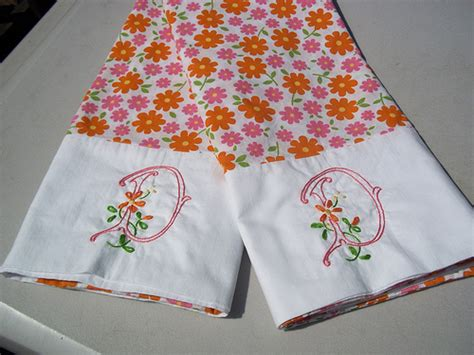 embroidered pillowcases flickr photo
