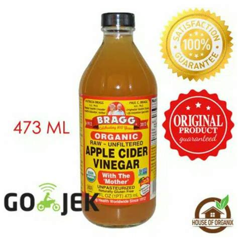 Bragg Apple Cider Vinegar Cuka Apel Murni 250ml jual bragg apple cider vinegar cuka apel house of organix