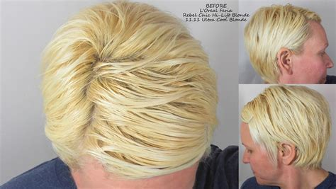 before and after cool blonde chic cut neil george beforeferiablondehilift my highest self