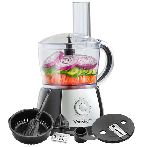 Multi Mixer Juicer vonshef food processor black juicer jug blender chopper