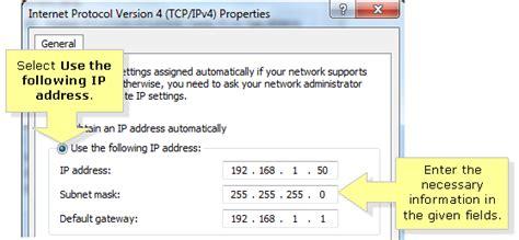configure xp static ip configure my static ip address vista todayint6x over