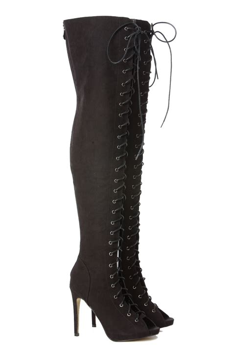 lace up thigh high electra boots cicihot boots catalog