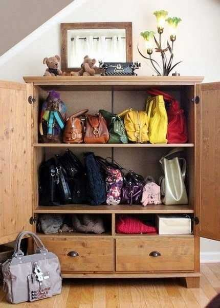 Handbag Storage Cabinet by 33 Storage Ideas To Organize Your Closet And Decorate With