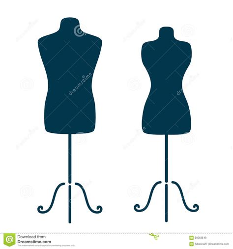 mannequins stock vector image 59263549