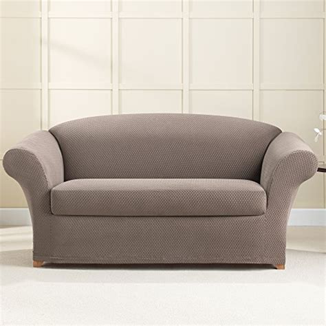 where to buy sure fit slipcovers sure fit stretch brixton loveseat slipcover taupe 0