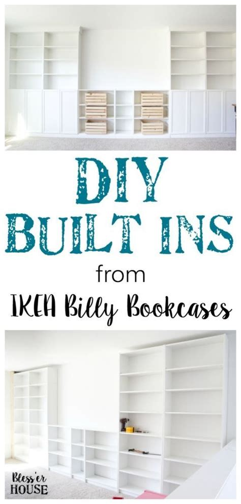 diy built ins from ikea bookcases orc week 2 vertical