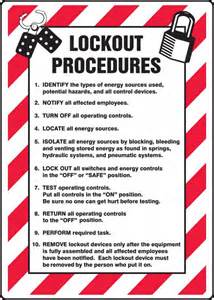 Lock Out Tag Out Procedures Template by Lockout Tagout