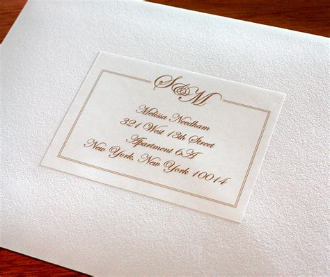 can you print addresses on wedding invitations address labels to match your wedding invitations