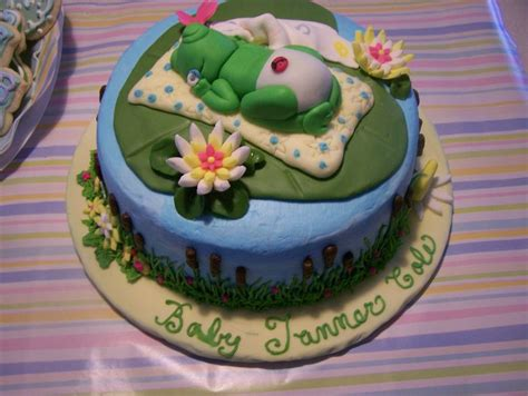 Frog Baby Shower by Frog Theme Baby Shower Cake Cakecentral