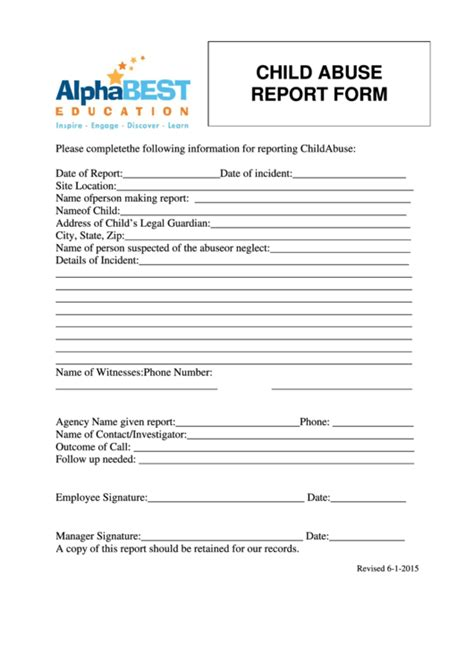 cps report card template 22 child abuse report form templates free to in pdf