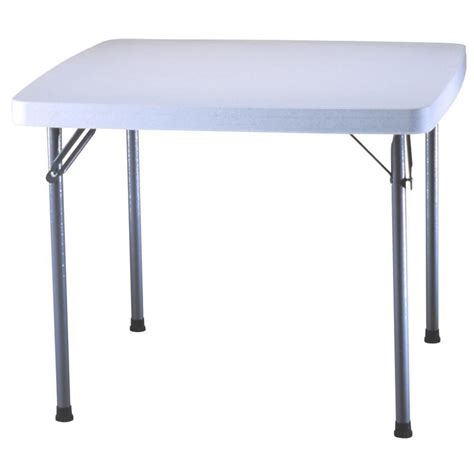 lifetime tables home depot lifetime 37 inch square card table white the home
