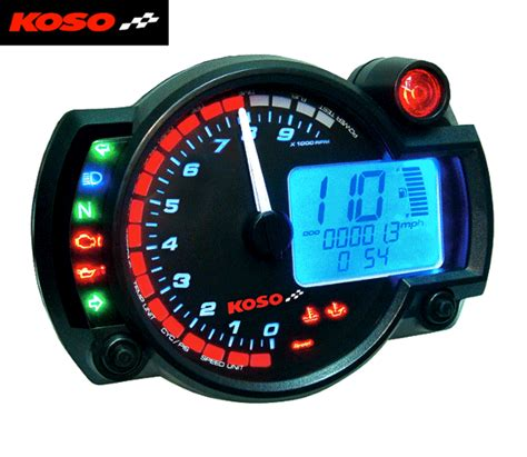 Bikermart: Koso RX2N Multi Function Motorcycle Digital Clock Dashboard, KOSO DIGITAL DASHES