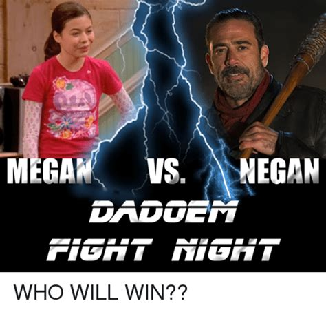 Who Meme - mega vs negan who will win mega meme on sizzle