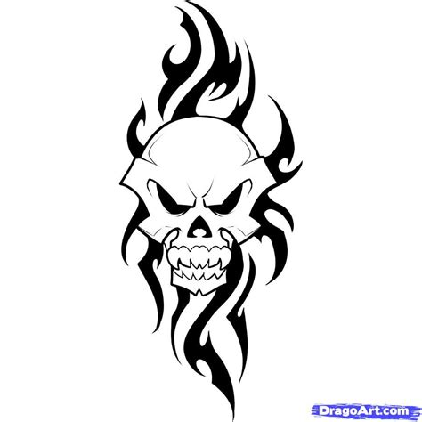 how to draw a tribal tattoo step by step how to draw a tribal skull step by step tribal pop
